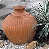 古文明风格陶土盆(土红陶盆)